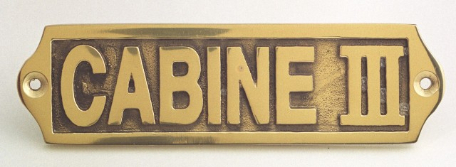 Door plate - CAB III - marine accessories - marine decoration