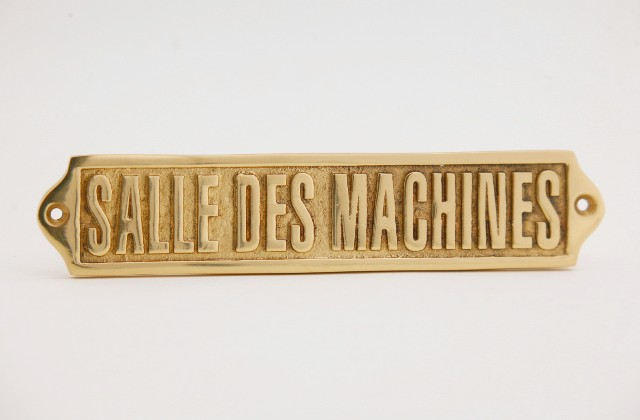 Door sign - ROOM MACHINES - marine accessories - marine decoration