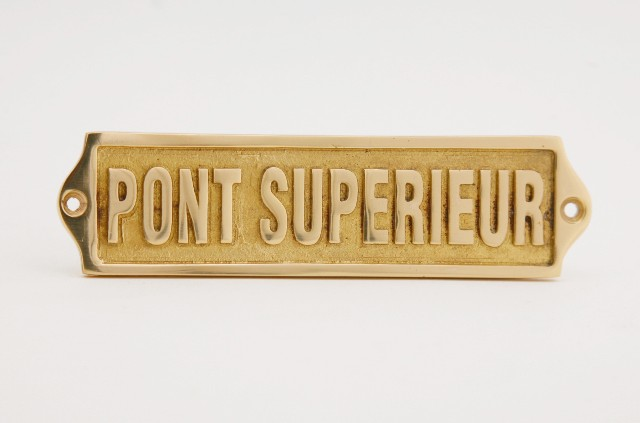 Door sign - UPPER DECK - marine accessories - marine decoration