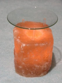 Salt crystal candle holder - Salt cristal lamps