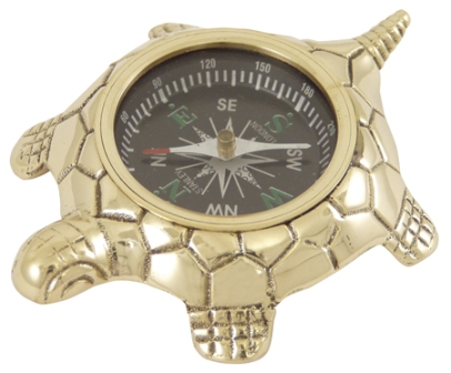 Compass and paper weight -  L : 3''3/4 - marine style - marine decoration