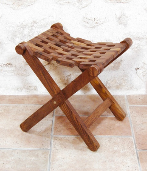 Folding stool seat : 18''8/9*15''*H : 17''3/4 - marine style - marine decoration