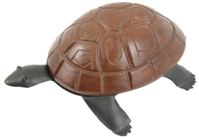 To stand or to hang wooden and metal tortoise -  dim : 7''7/8*6''1/3*2''3/4 - marine style - marine