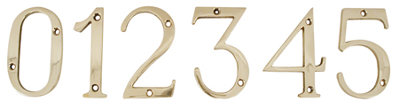 4 - Polish brass finish -  delivered with brass screws -  100% full brass figures and letters -  H :