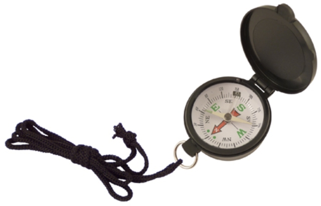 Compass with black plastic lid and lace -  diam : 1''3/4 - marine style - marine decoration