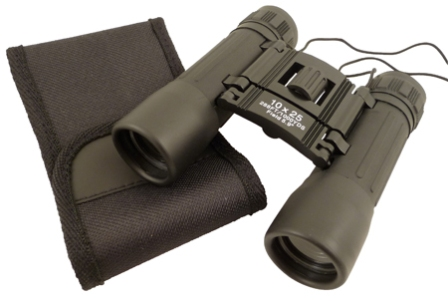 Binoculars of hike  10*15 -  swelling 10 -  diam objective : 25 mm Frame steel was sheathed rubber b