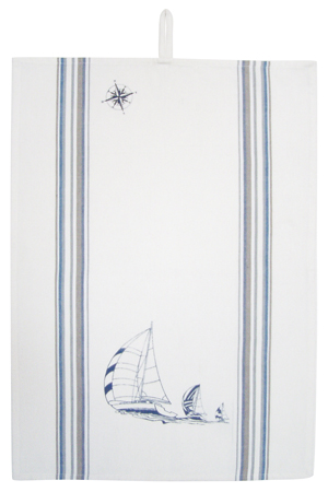 Beautiful kitchen accessory: Cotton Towel - Regatta - marine style - marine decoration