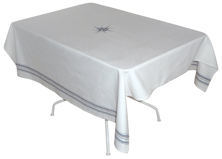 Beautiful table accessory: Cotton Tablecloth - Regatta - marine style - marine decoration