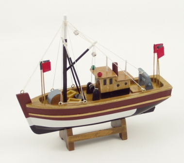 Red fishing boat -  L : 8''*H : 8''*2''1/6   - marine style - marine decoration