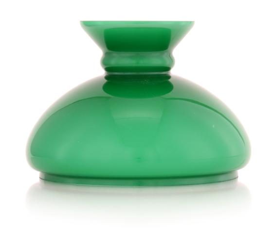Abat jour en opaline vert pour lampe de banquier